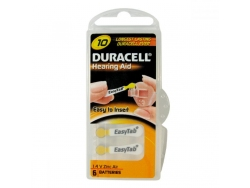 Baterie do naslouch.Duracell DA10P6 Easy Tab 6ks